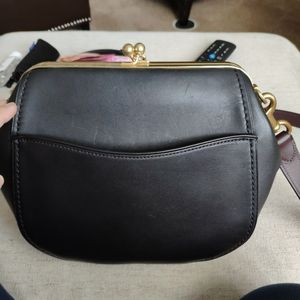 Coach, black 1941 kisslock crossbody bag